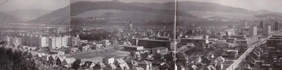 Panoramatická fotografia Púchova v roku 1974n