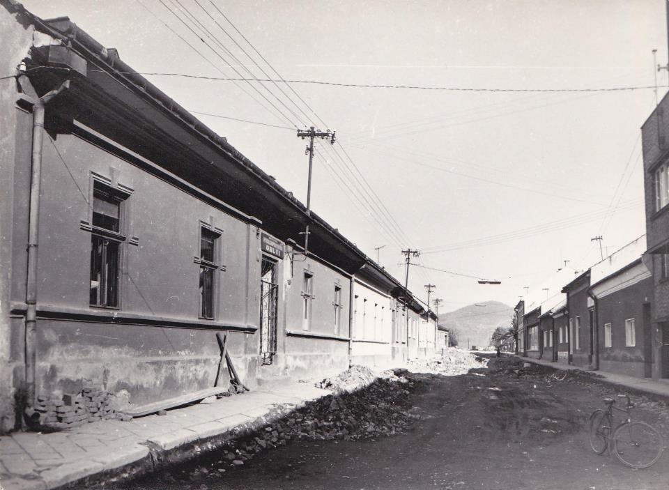 Hollého ulica na zač. 70. rokov 20. storočia