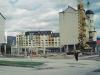Roh Moravskej a Moyzesovej ulice vo výstavbe cca v r. 2004 z parkoviska pri OD Lachovec - dnes sa dole nachádza reštaurácia El Greco a ďalšie prevádzky...