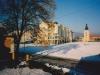 Lúka na mieste dnešnej pešej zóny (Moyzesovej ulici) v Púchove - cca 2002