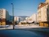 Pohľad na križovatku ulíc Moravská a F. Urbánka v r. 2002 (pred OD Lachovec)