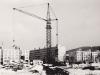 Výstavba panelových domov na Námestí slobody v polovici 80. rokov