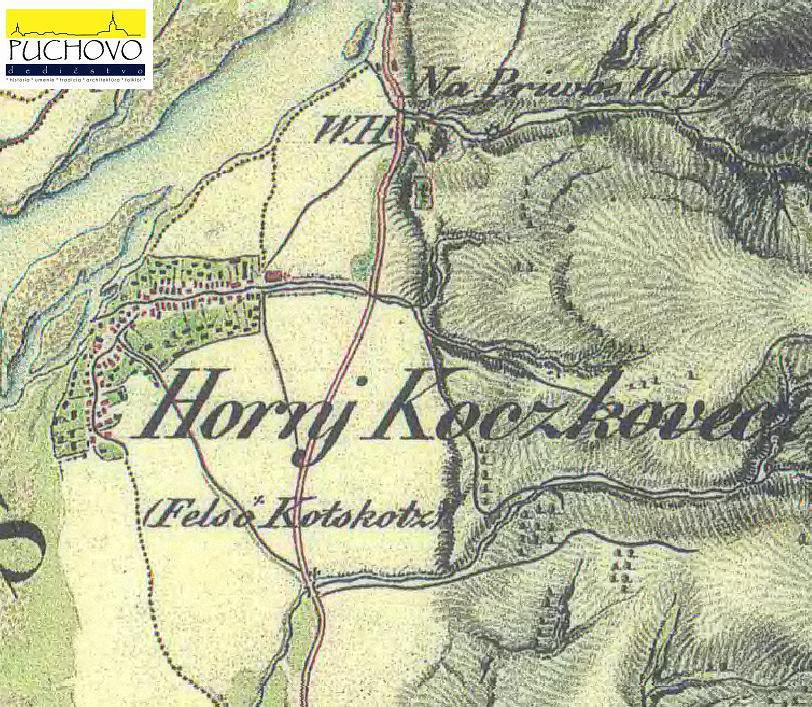 Horné Kočkovce okolo r. 1819 až 1869