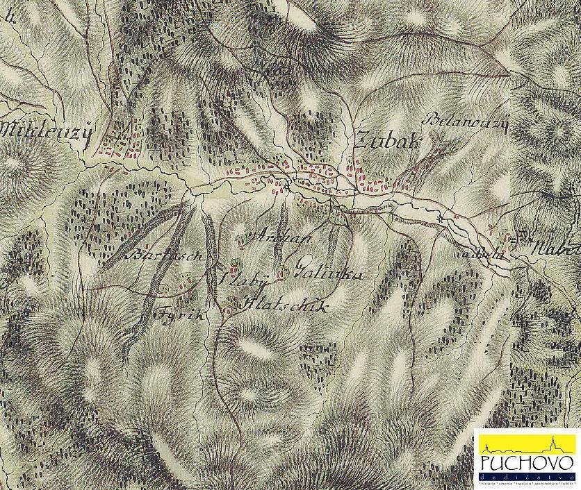 Obec Zubák okolo 1769 - 1785
