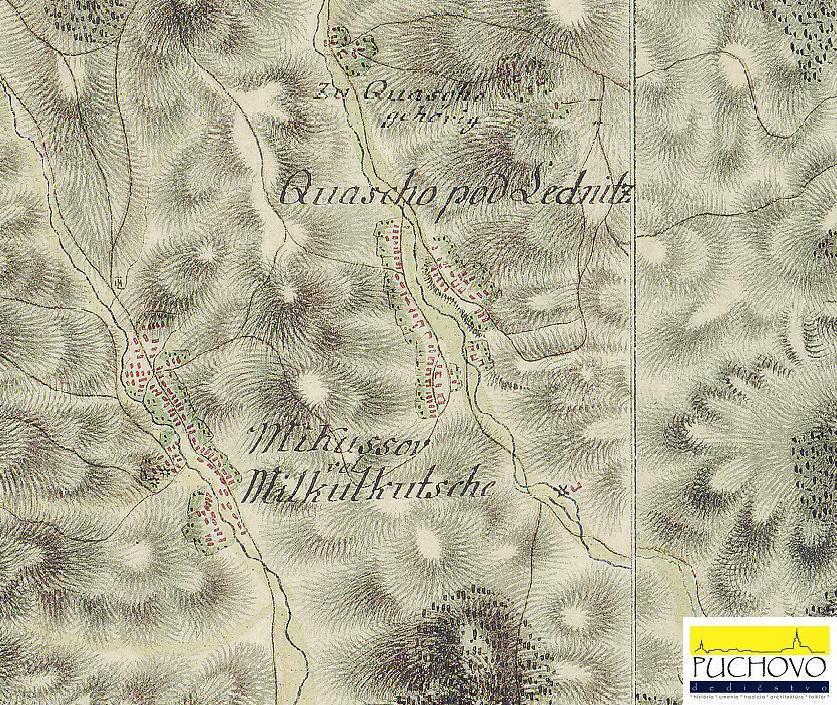 Kvašov, Močiare a Mikušovce okolo r. 1769 - 1785