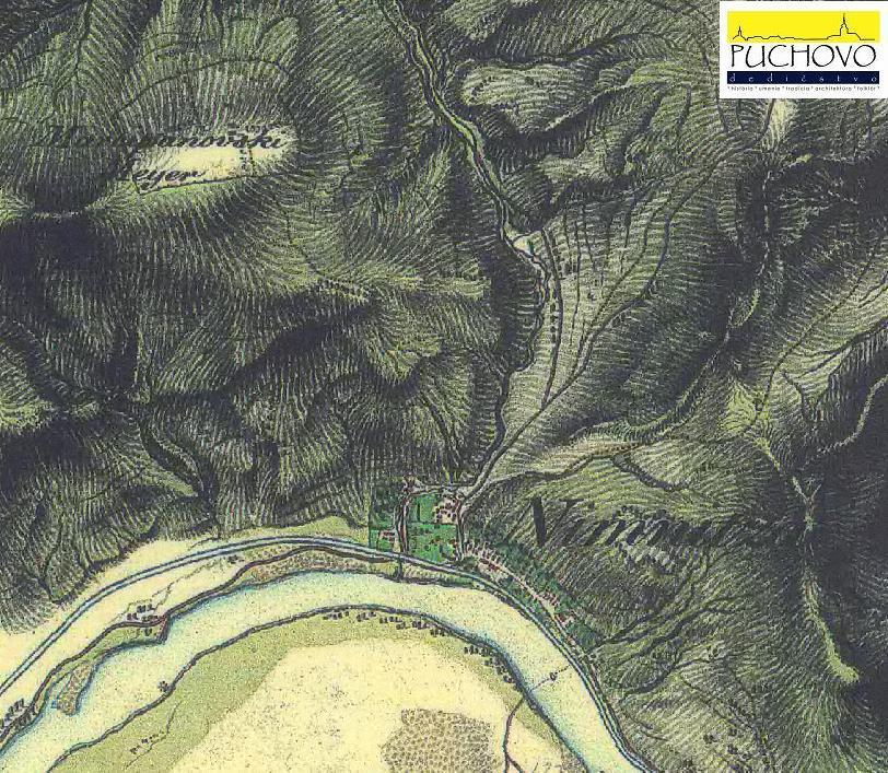 Mapa obce Nimnica počas tzv. II. vojenského mapovania