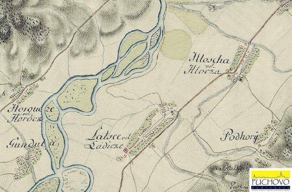 Horovce, Hloža, Ladce, Dulov a Podhorie okolo r. 1769 - 1785