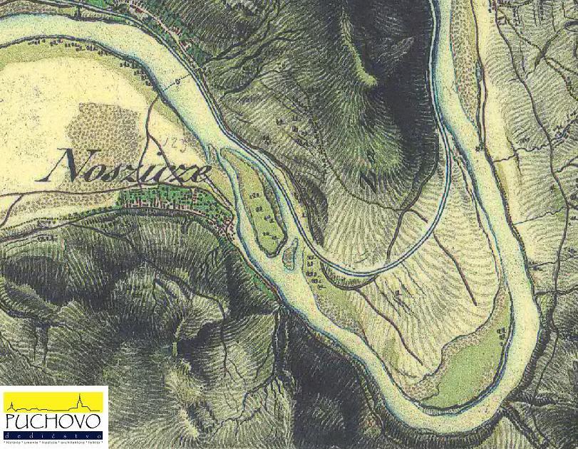 mapa obce Nosice počas tzv. II. vojenského mapovania