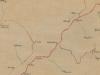 Cestná sieť v okolí Púchova na mape z roku 1869