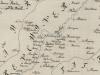 Cestná mapa okolia Púchova z roku 1787