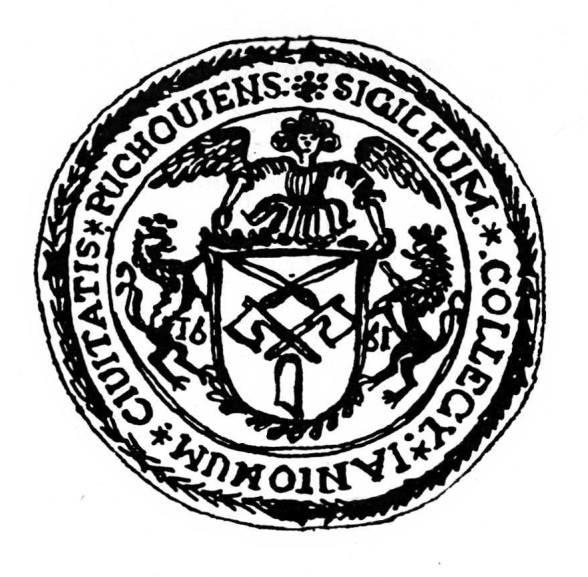 otlačok pečate Cechu púchovských mäsiarov z roku 1661