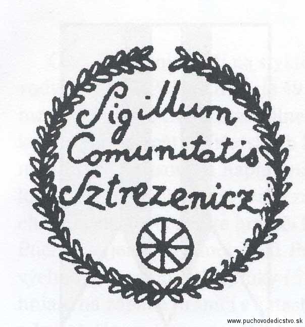 odtlačok pečate Streženíc z 19. storočia