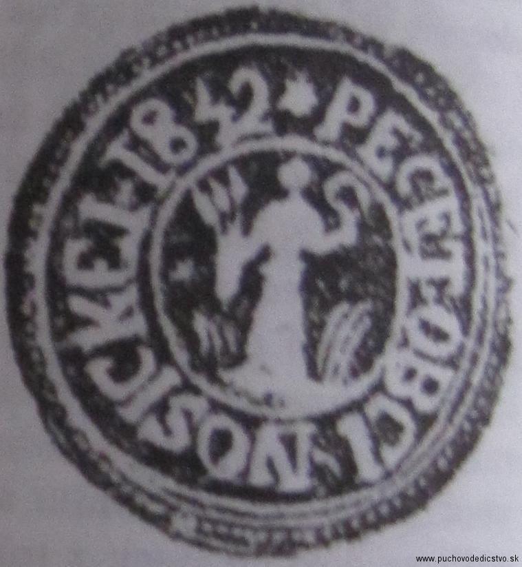 Pečať Nosíc z roku 1842