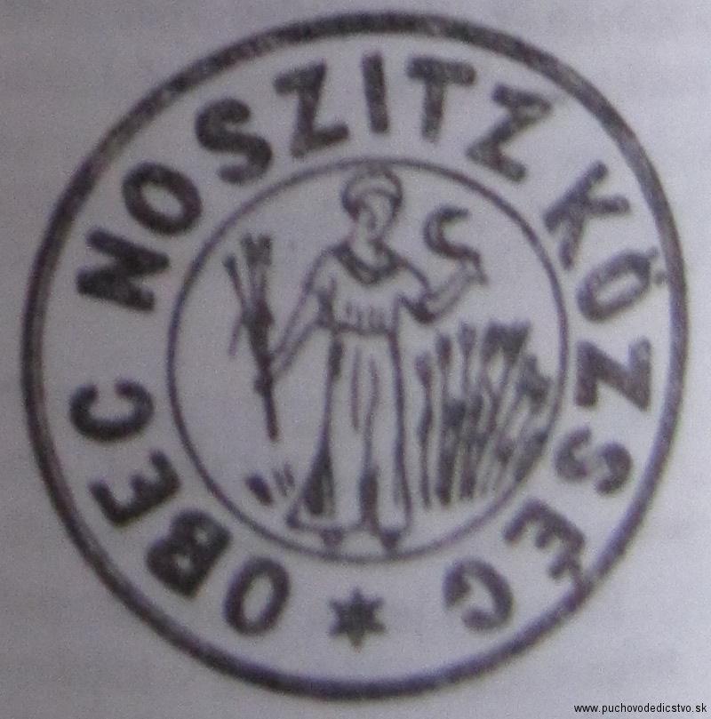 Pečať Nosíc z 2. pol. 19. storočia