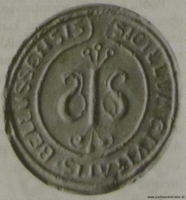 Menšia pečať Beluše z 18. storočia