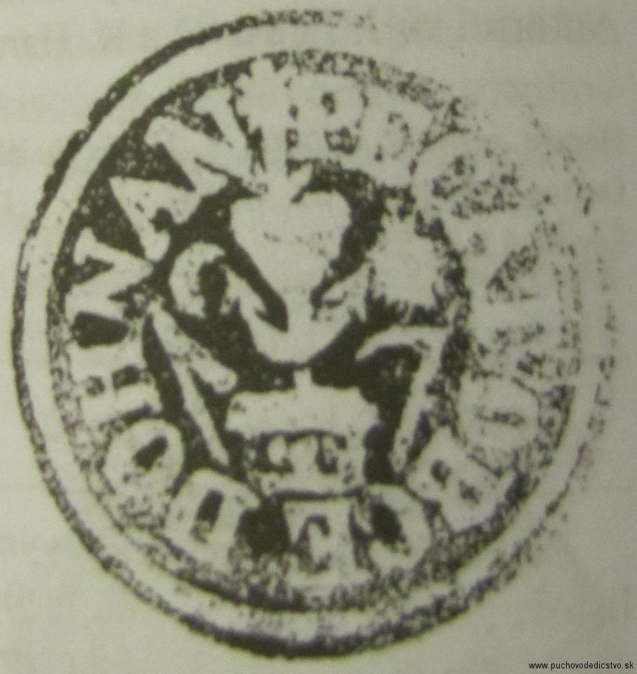 odtlačok pečate obce Dohňany z r. 1871