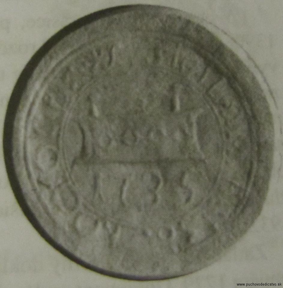 Pečať Horných Kočkoviec z r. 1735