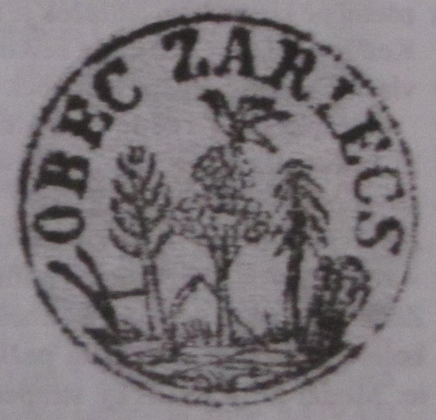 Pečať obce Záriečie z roku 1870
