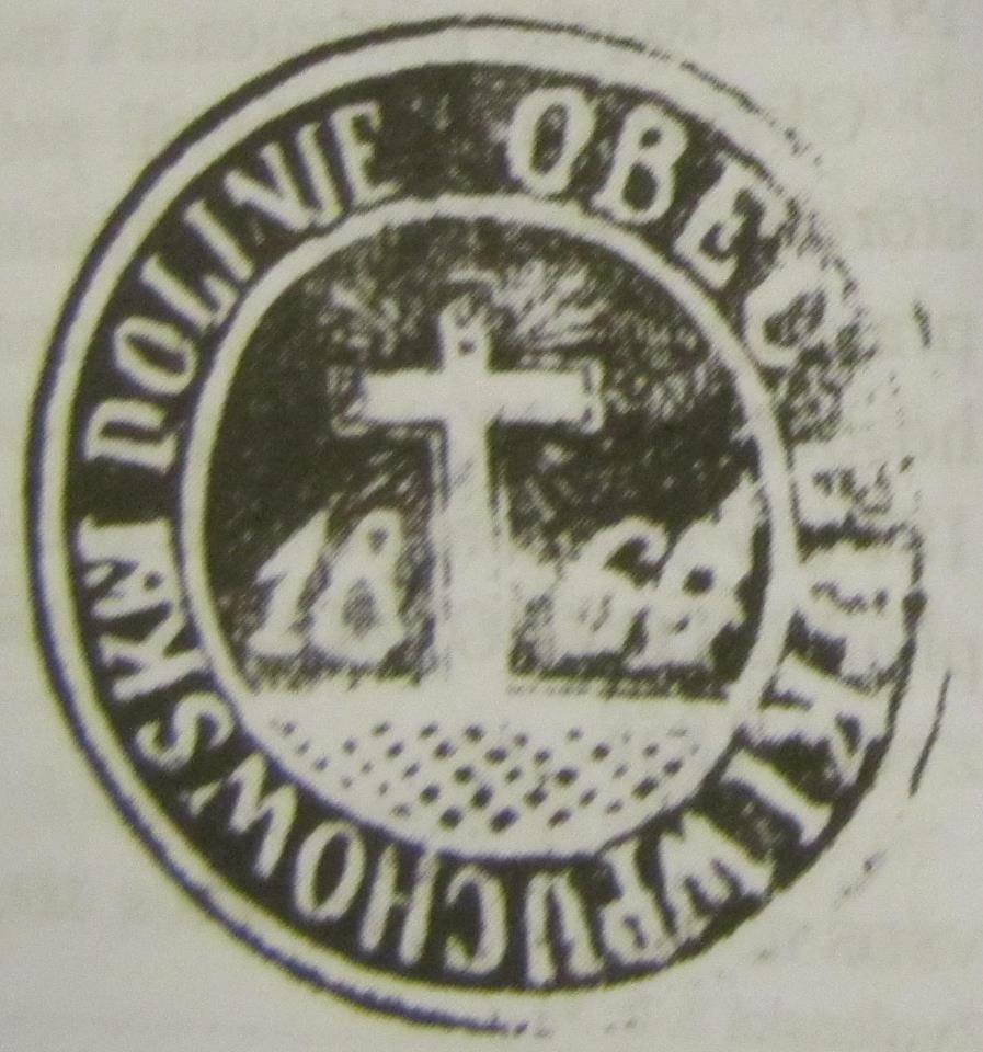 Odtlačok pečate obce Lúky z r. 1860