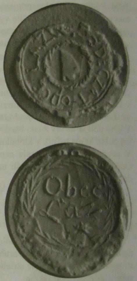Odtlačok pečatidla obce Lazy pod Makytou zo 17. a 18. storočia