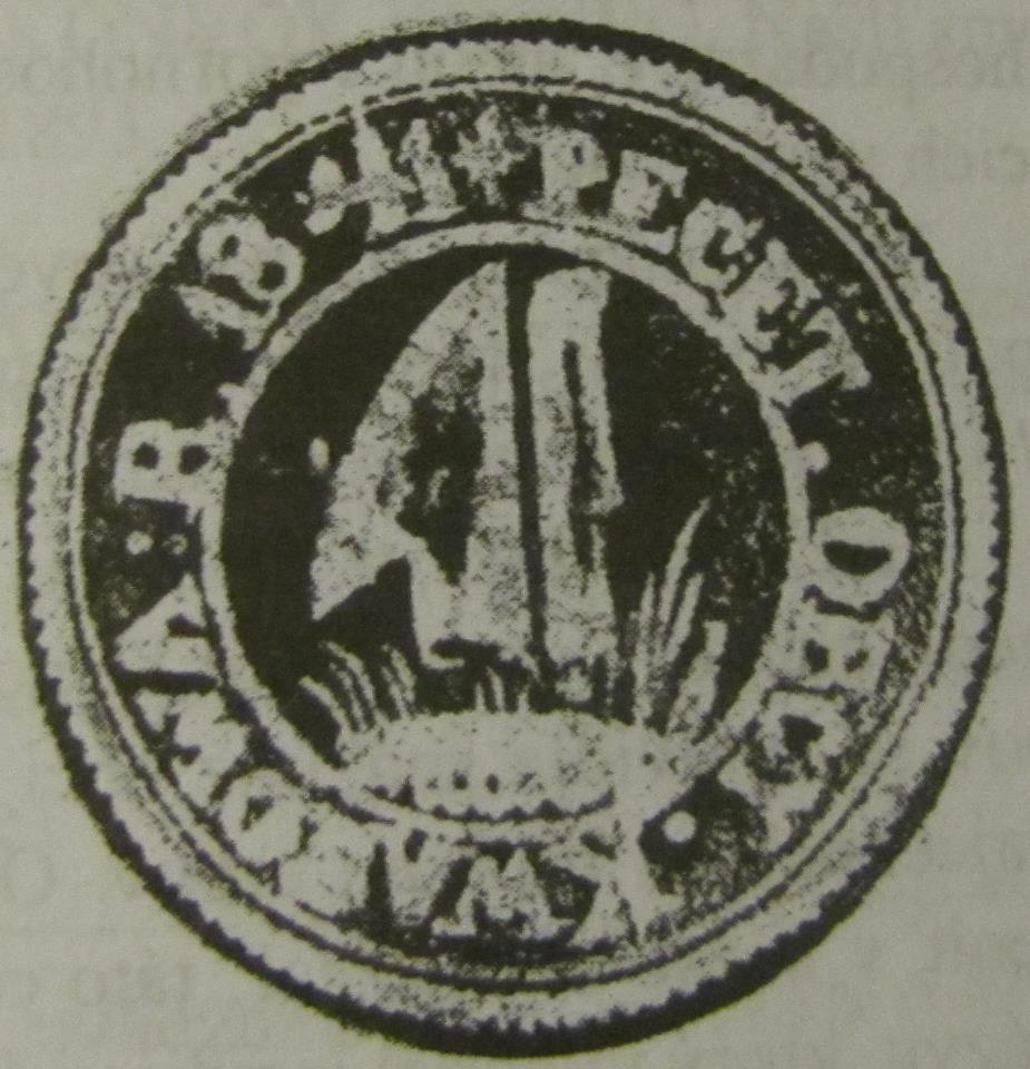 Odtlačok pečate obce Kvašov z roku 1841