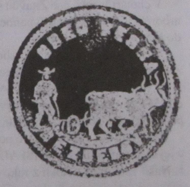 Odtlačok pečate obce Vieska-Bezdedov z r. 1863