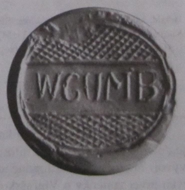 Odtlačok nápisového pečatidla obce Vieska-Bezdedov používané okolo r. 1860
