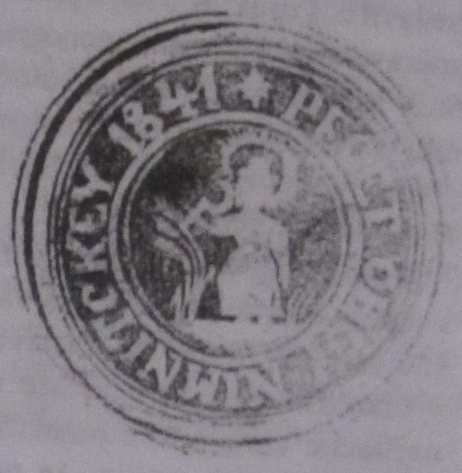 Odtlačok pečiatidla obce Nimnica z r. 1841