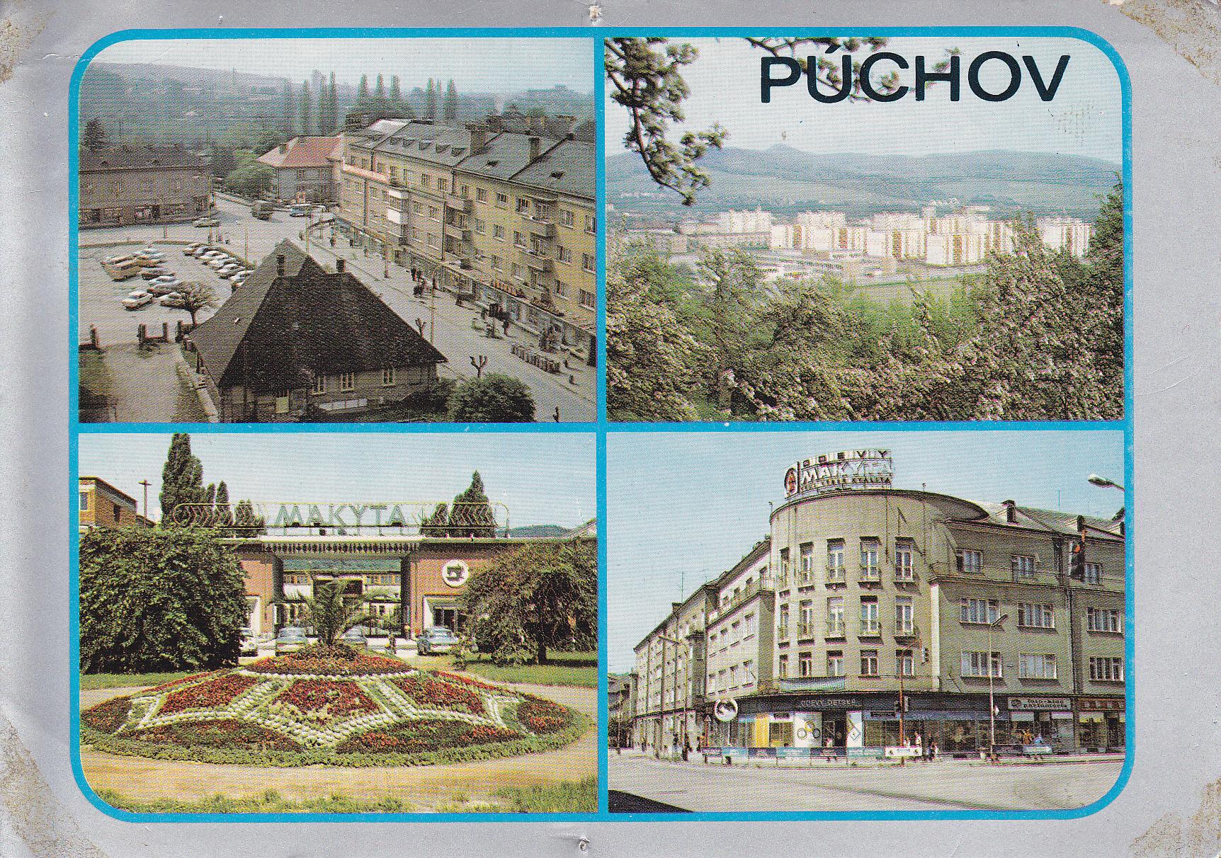 Pohľadnica Púchova z r. 1978 zachytáva križovatku na