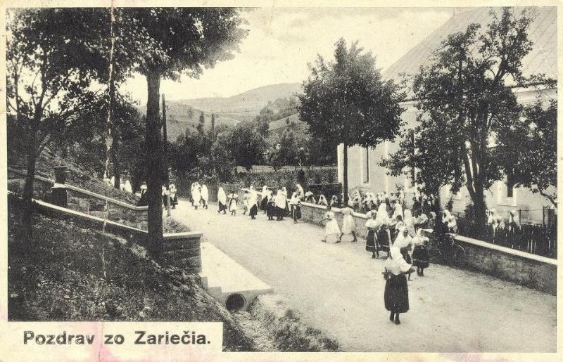 Pohľadnica Záriečia z čias 1. ČSR