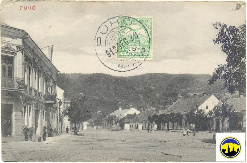 Pohľadnica Námestia slobody v Púchove odoslaná 29. dec. 1913