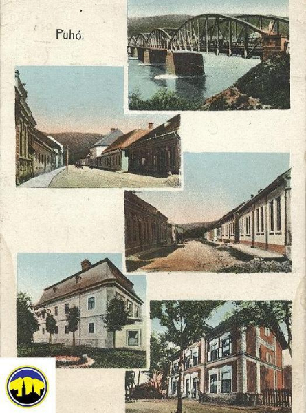 Pohľadnica Púchova z čias Rakúsko-Uhorska