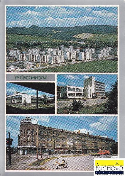 Pohľadnica Púchova zo začiatku 80. rokov minulého storočia