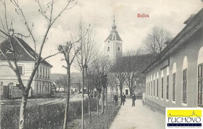 Pohľadnica z Beluše v čase Rakúsko - Uhorska