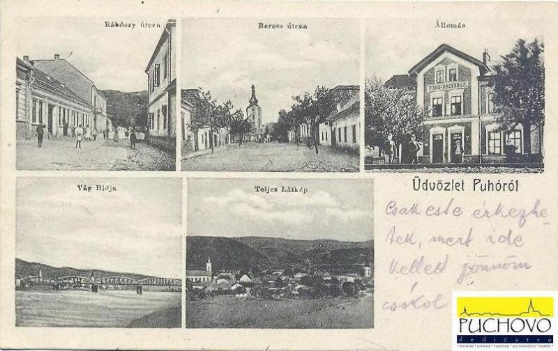 Pohľadnica z Púchova na prelome 19. a 20. storočia