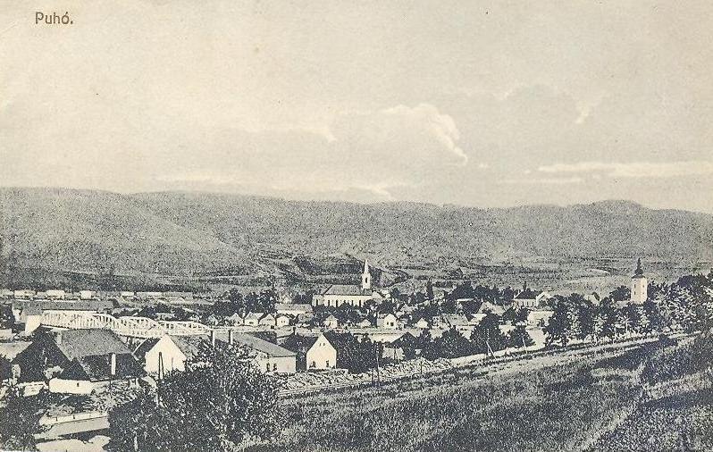 Pohľadnica Púchova z 90. rokov 19. storočia