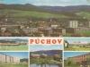 Púchov na pohľadnici z roku 1972
