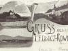 Pohľadnica z Lednických Rovni z roku 1898