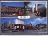 Púchov na pohľadnici z r. 1990: Hotel, Rožák a priľahlé parkovisko so ZUŠ (od pána Olšovského)