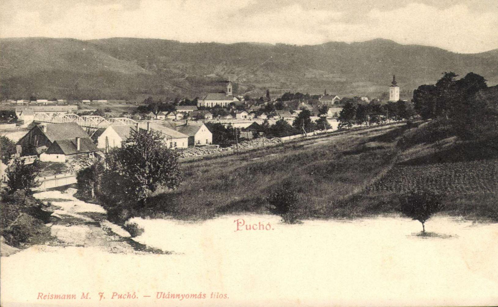 Krásny pohľad na Púchov, resp. Puchó v roku 1906