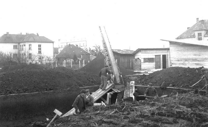 Stavba pošty cca 1967