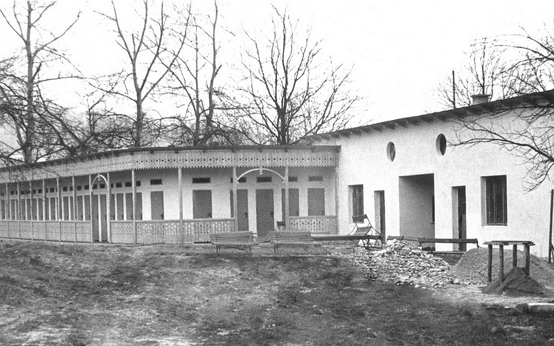 šatne starého kúpaliska v marci 1959
