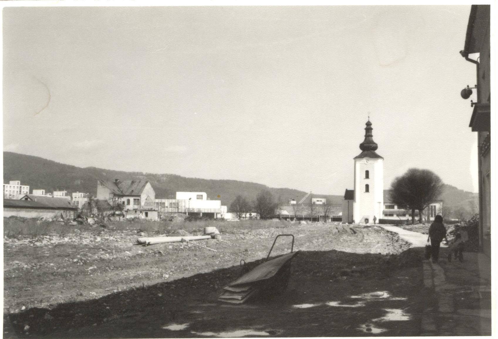 Dnešná Moyzesova ulica (pešia zóna) na konci 80. rokov 20. storočia