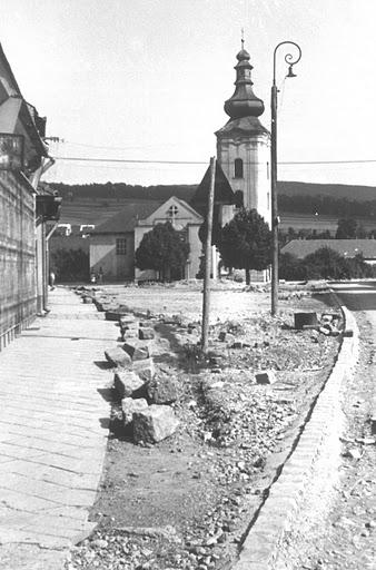 úprava Námestia slobody v r. 1958-1959