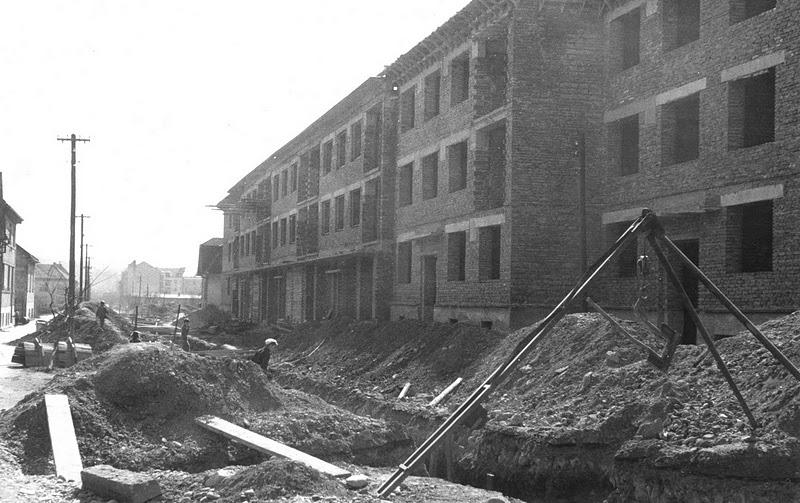 Výstavba tzv. Nového Rožáku na Štefánikovej ul. v 1958