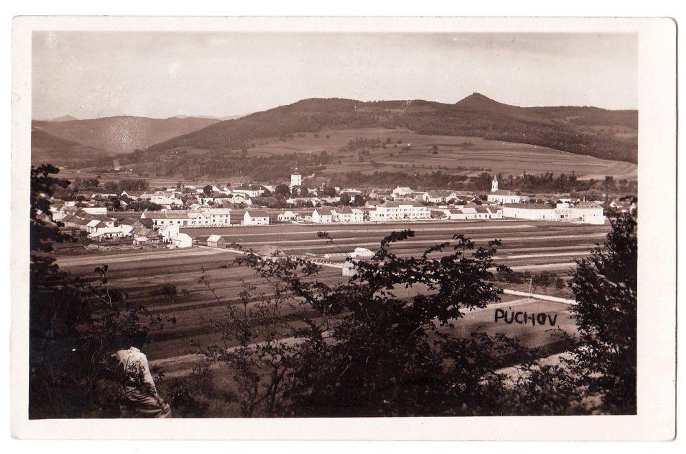 Púchov z Lachovca v polovici 20. storočia