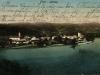 Pohľadnica Púchova poslaná 1. decembra 1914 do Trnavy (Nagyszombat). Za povšimnutie stojí napr. neupravené koryto Váhu, ktorý doslova obtekal mestečko...