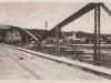 pohľad na Púchov v roku 1930 z 1. pešieho mosta cez Váh v Púchove