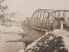Premostenie Váhu medzi Púchovom a mestskou časťou Horné Kočkovce v roku 1928
