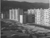 """Ulica Budovateľov, resp. dnešná Gorazdova a z nej ďalšie """"vybiehajúce ulice"""" pri výstavbe v roku 1974"""